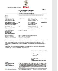 BUREAU Certificate