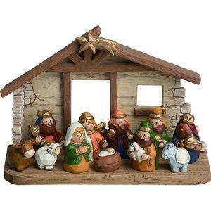 1Miniature Kids Nativity Scene
