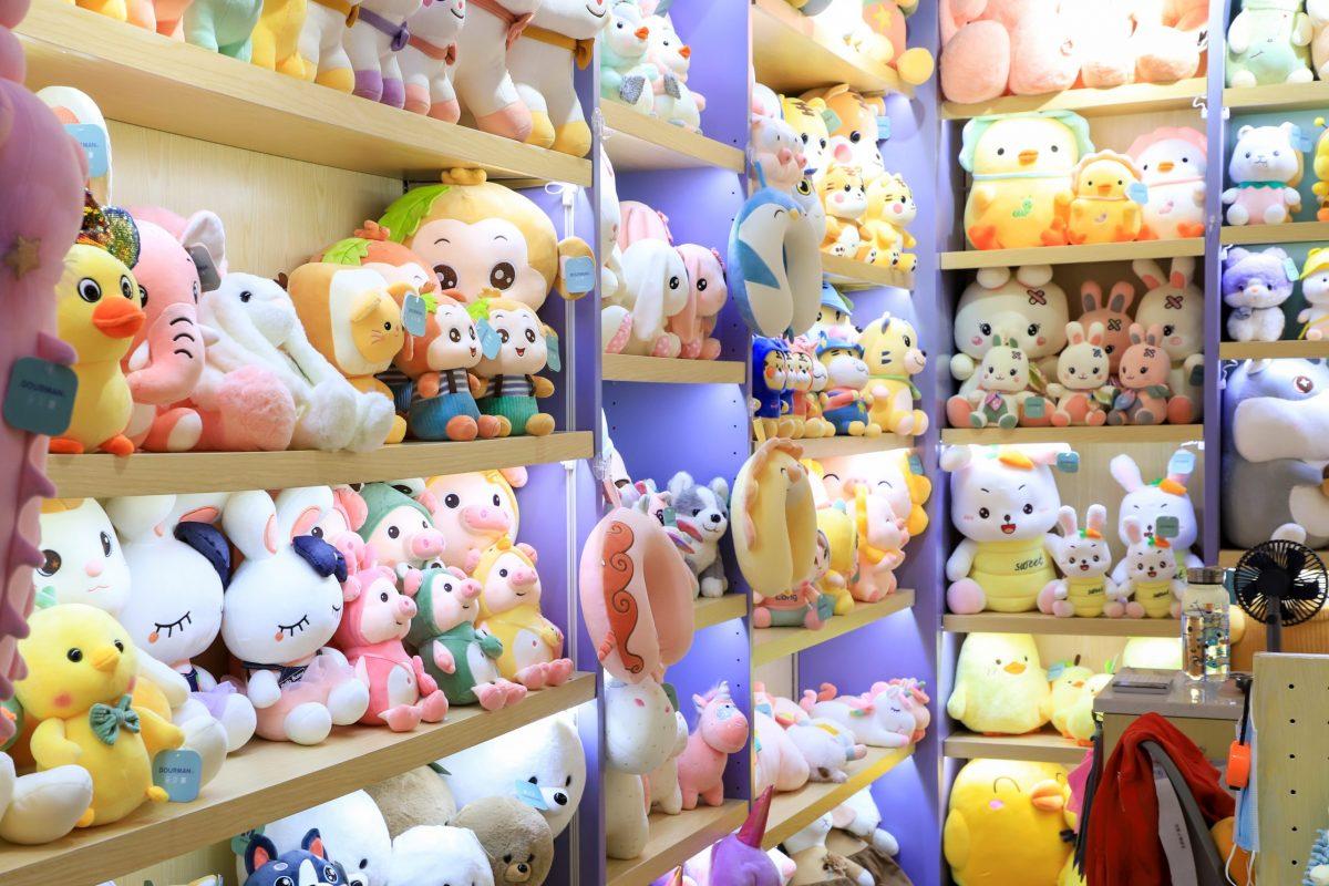 in Yiwu Market- Plush toys
